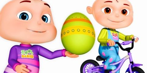 Five Little Babies Opening Surprise Eggs | Transport Vehicles For Children | Zool Babies Fun Songs