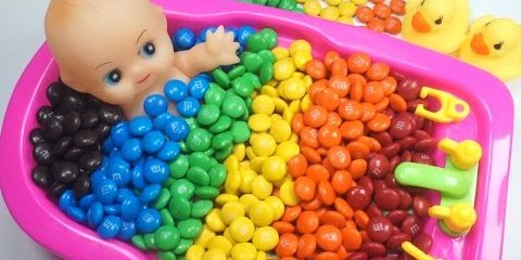 Learn Colors Baby Doll Bath Playing Time DIY Learn Colors Play Doh