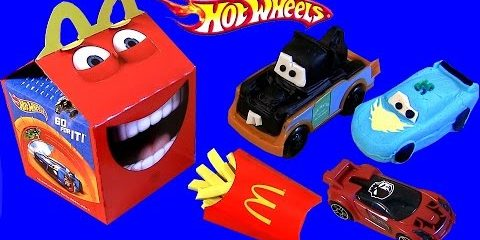 Play Doh Cars with Happy Meal McDonalds Hot Wheels
