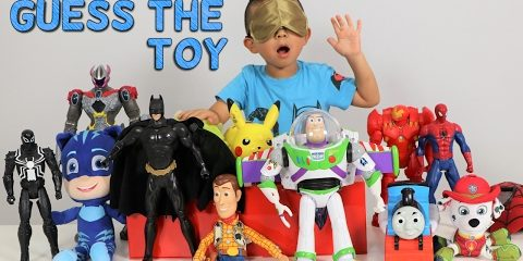 GUESS THE TOY Game Challenge Kids Surprise Toys Disney Toys Superheroes Power Rangers Ckn Toys