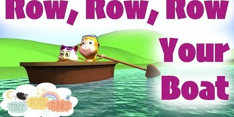 Row Row Row Your Boat | Nursery Rhymes & Children's Songs for Kids | Tiny Tots Tunes