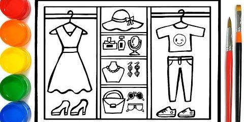 Fashion Closet coloring and drawing for Kids